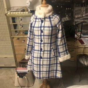 BRAND NEW COLLECTIF LONDON Mariella Checked Coat